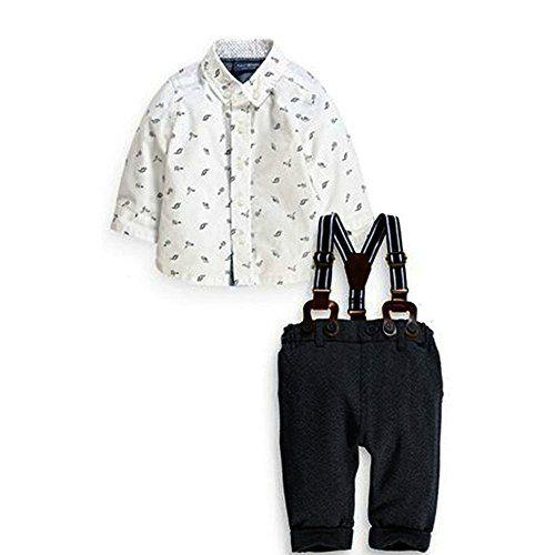 Baby Boys Gentleman Dinosaur Button-down Shirt and Bib Pants Overall Outfits WANGSAURA http://www.amazon.co.uk/dp/B0144ELJ2U/ref=cm_sw_r_pi_dp_EAqYwb02KC0Z5
