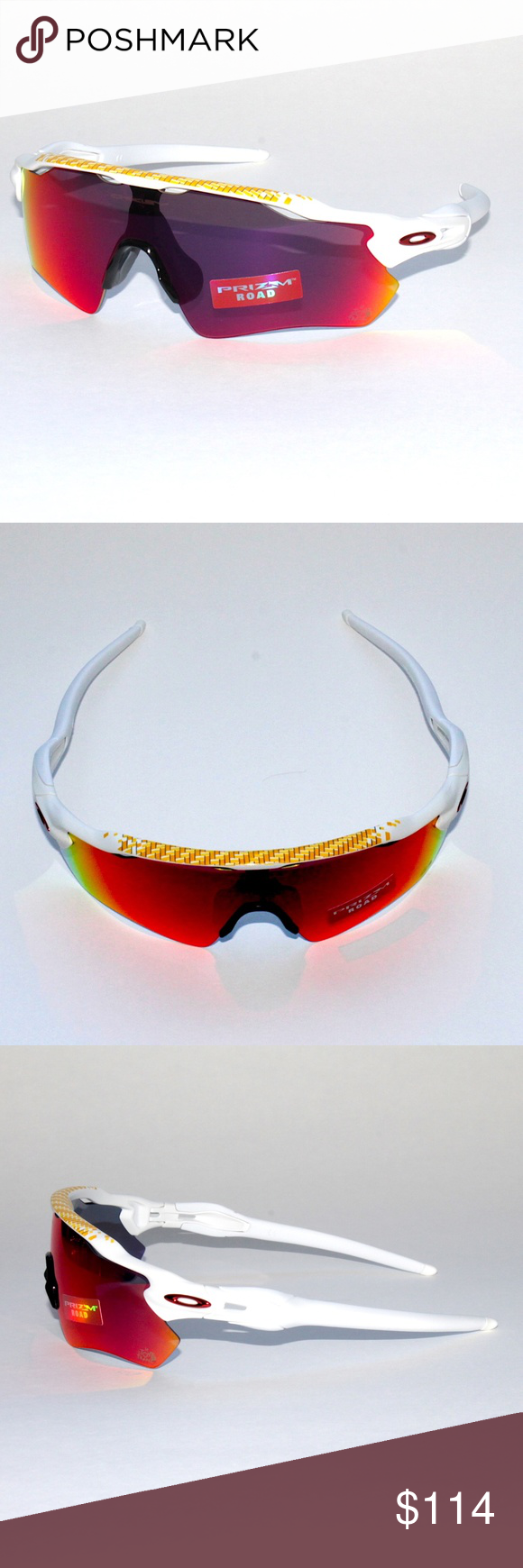 1823904a56 Oakley Radar EV Path OO9208-5038 Tour De France Brand New 100% Authentic Oakley  Radar EV Path Sunglasses ‑ Tour De France Prizm Road OO9208-5038 128 Matte  ...
