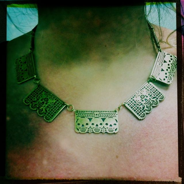 Pamela Love - Day of the Dead necklace.