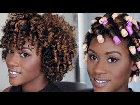 Natural Hair Tutorial Perm Rod Set Video Hair Styles