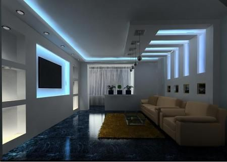 Fotos pladur y falso techo iluminaci n plafones - Fotos de techos de pladur ...