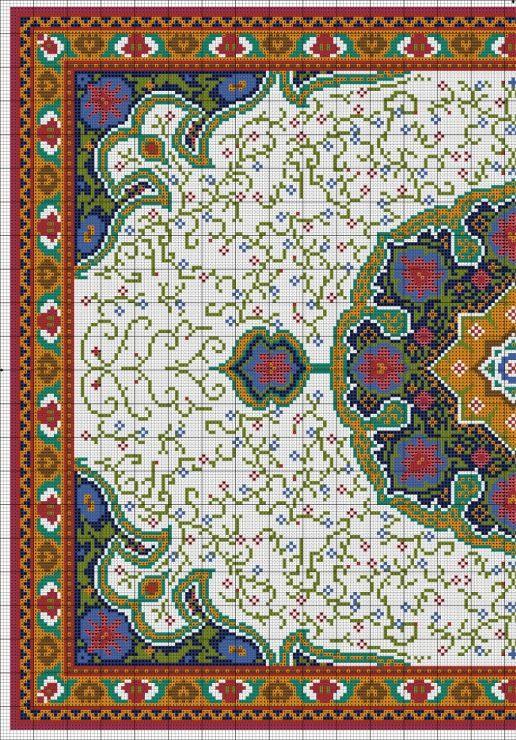 Galleryru / Фото #2 - Floral Carpet (Latch Hook) - azteca Diseños