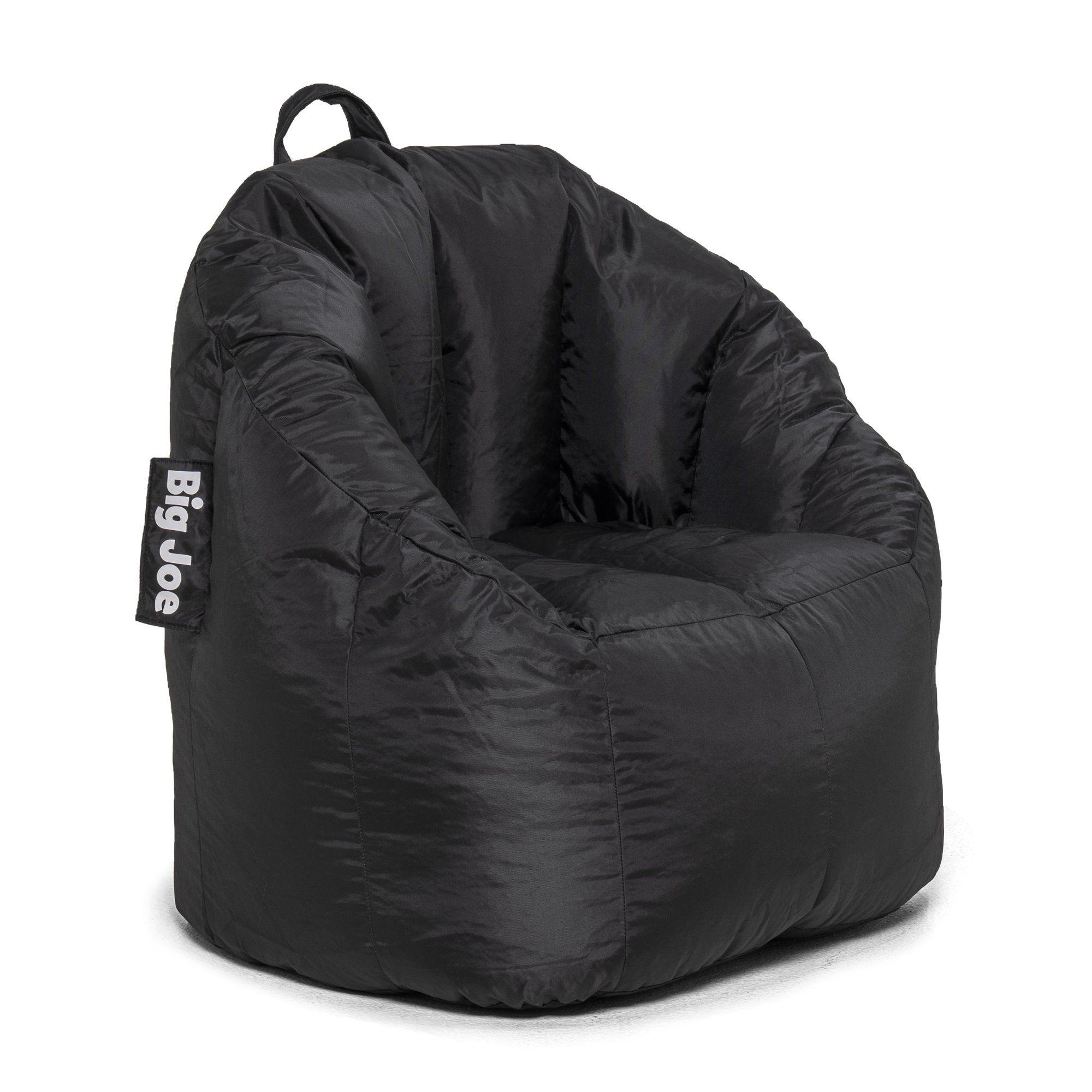 """Big Joe Joey Bean Bag Chair, Black 28.5"""" x 24.5"""" x 26.5"""