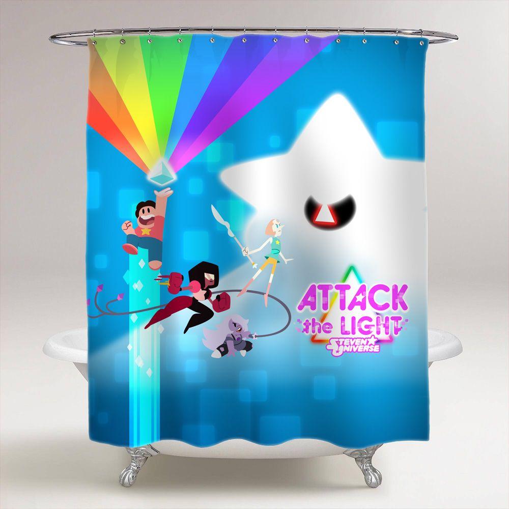 Steven Universe Attack The Light Custom Shower Curtain