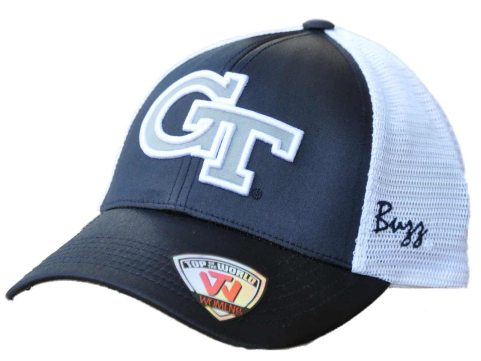 Georgia Tech Yellow Jackets TOW Women Navy White Satina Mesh Adjustable Hat Cap