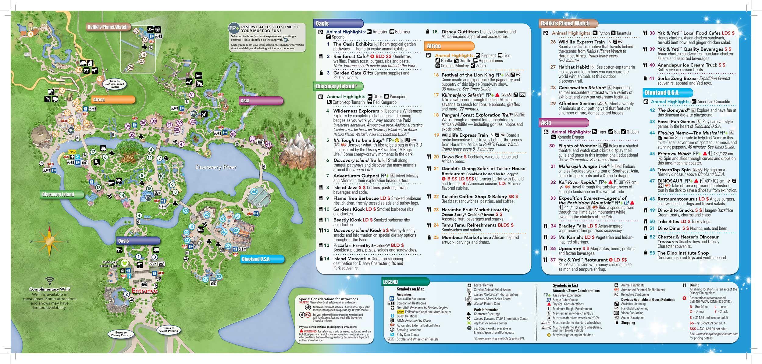 Disney's Animal Kingdom map Theme Park map | WDW ...