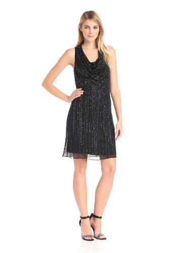 Adrianna Papell Women's Sleeveless Beaded Corwl Neck Dress, Black/Gunmetal, 4 Adrianna Papell,http://www.amazon.com/dp/B00FMNGF9U/ref=cm_sw_r_pi_dp_nAAztb0137VCA6QH