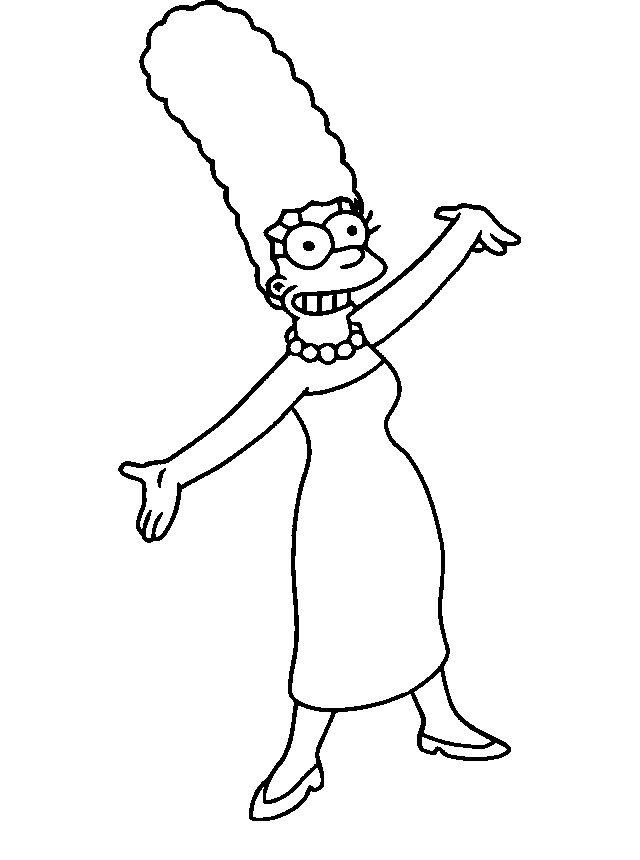 Marge Simpson Laughter Coloring Pages For Kids Grd Printable Simpsons Coloring Pages For Kids Primer Grado De Primaria Primeros Grados Primarias