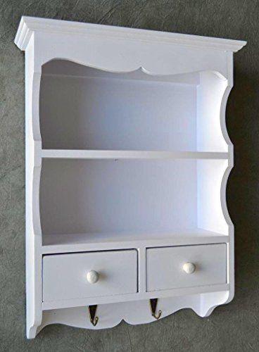 Regal Weiß Landhaus regal wandregal küchenregal weiß landhaus shabby 2 schubladen sp47