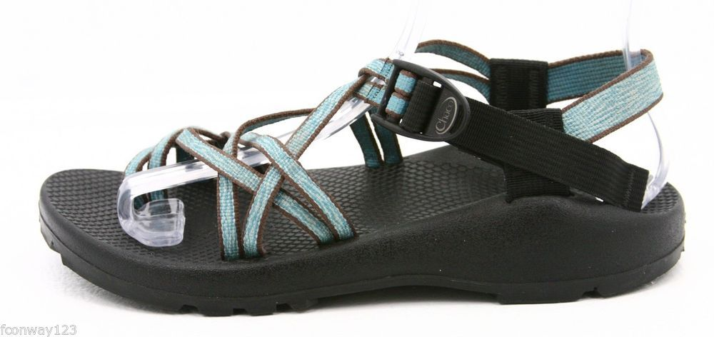 Chaco zx2 womens sandals size 9 blue toe loop water river
