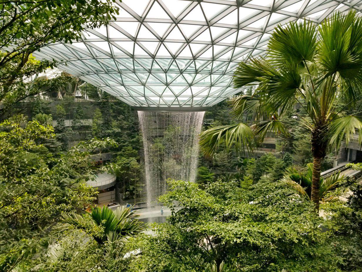World S Tallest Indoor Waterfall At Moshe Safdie S Jewel Changi