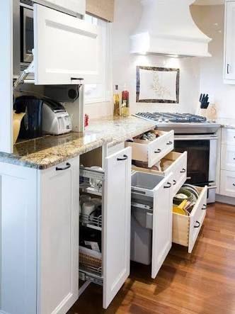 Resultado de imagem para armario de cozinha planejado aberto