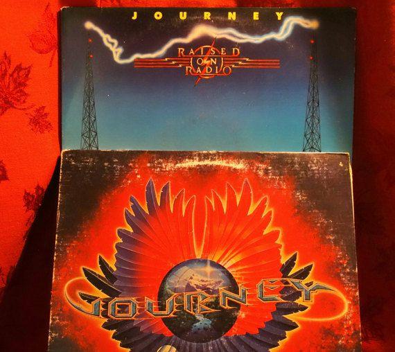 Journey Raised On Radio Infinity Lot Of 2lp Album Vinyl Music Arena Rock Radio