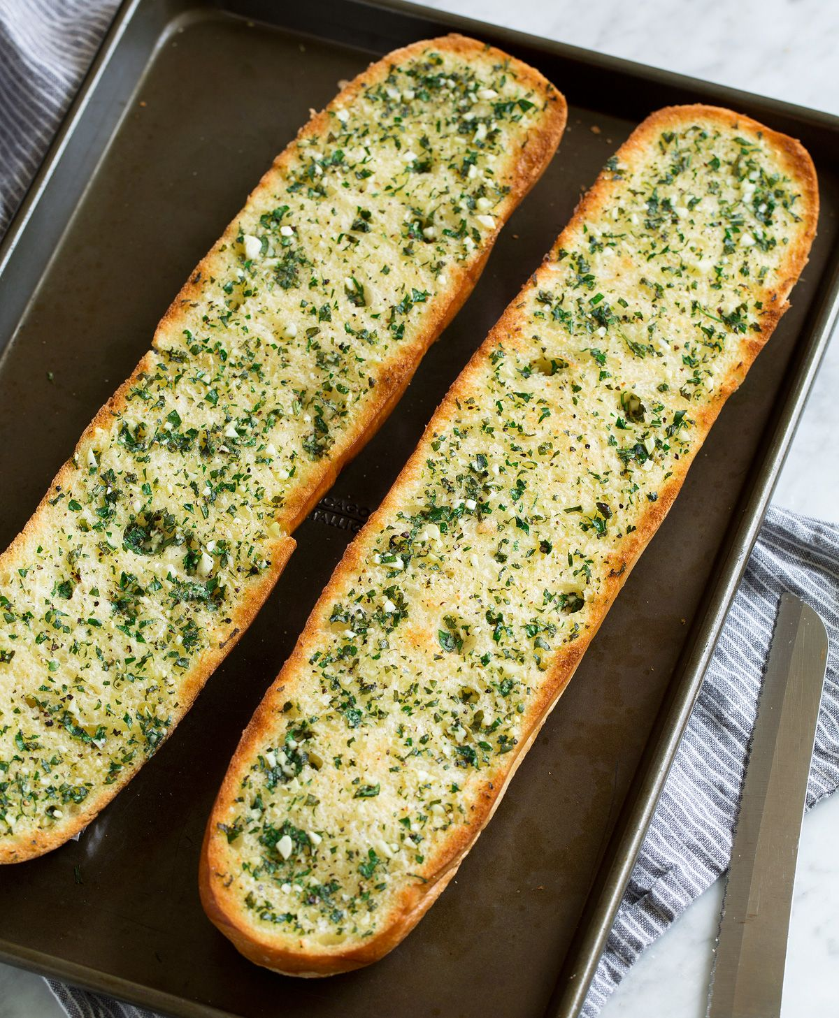 Fresh and flavorful Garlic Bread! Also known as the ...