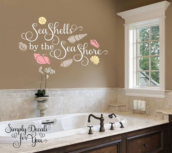 Sea Shells by the Sea Shore Wall Decal, Bathroom Decal