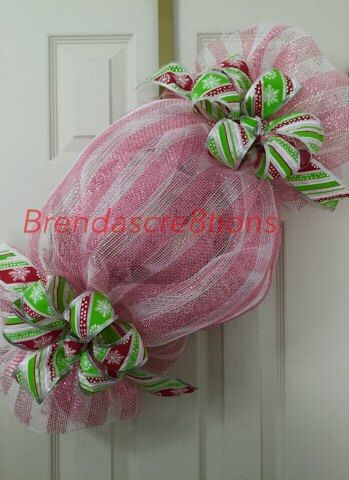 A personal favorite from my Etsy shop https://www.etsy.com/listing/256127617/unique-christmas-candy-deco-mesh-wreath