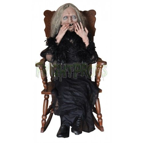 Laughing Hag Animated Prop - animated halloween decorations