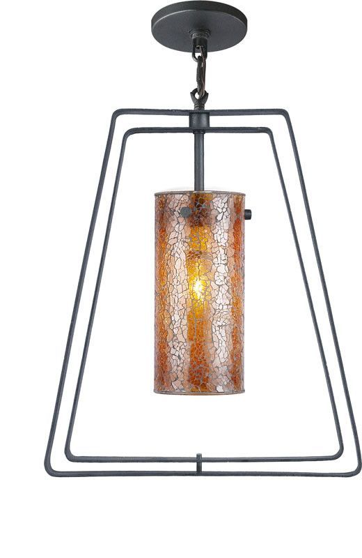 Woodbridge Lighting Twin Indoor Lighting Mid Pendant 13123TBK-M10AMB