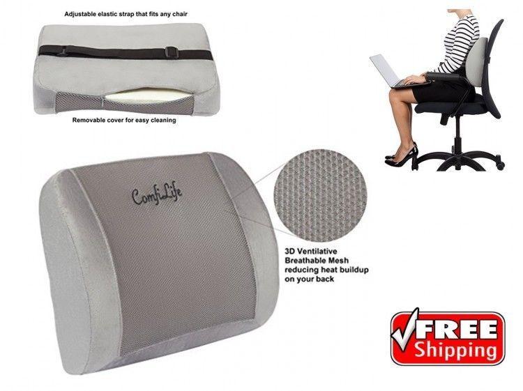 lumbar back support brace car seat cushion pillow office chair