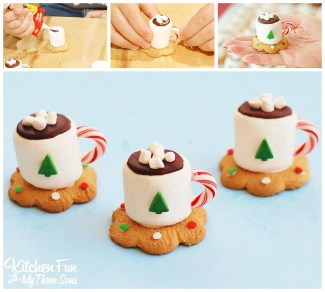 Hot Cocoa Marshmallow Cookie Cups Diy Craft Project Best