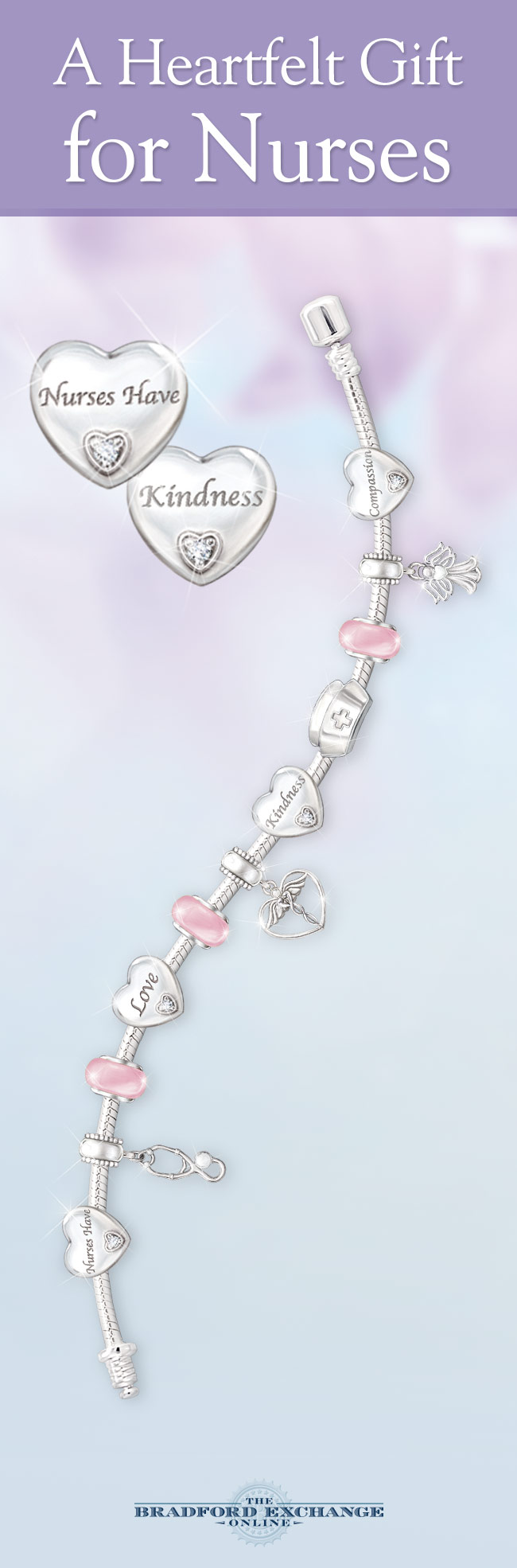 This Beautiful Bracelet Showcases 11 Distinctive Charms To Symbolize The Many Important Tenants Of A Nurse S Calling And It Features Genuine Swarovski