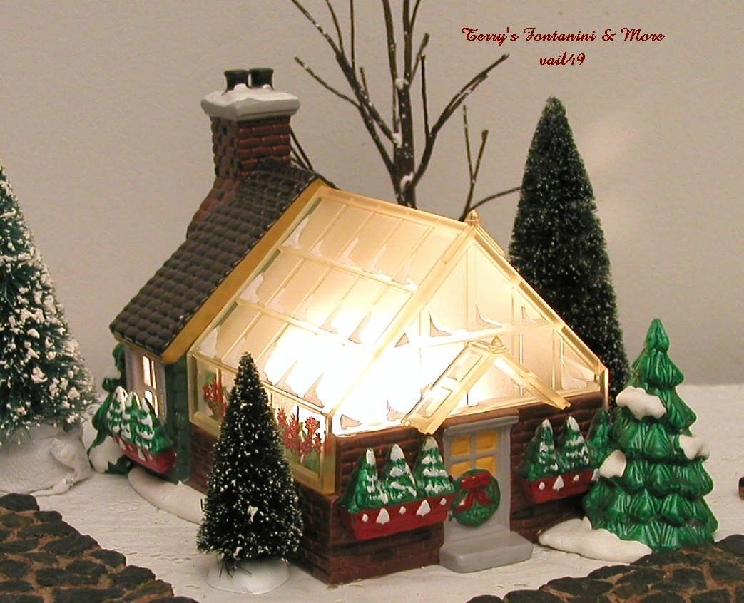 Department 56 Village Greenhouse Snow Village Lighted Building 54020 Ebay Christmas Village Houses Snow Village Christmas Villages