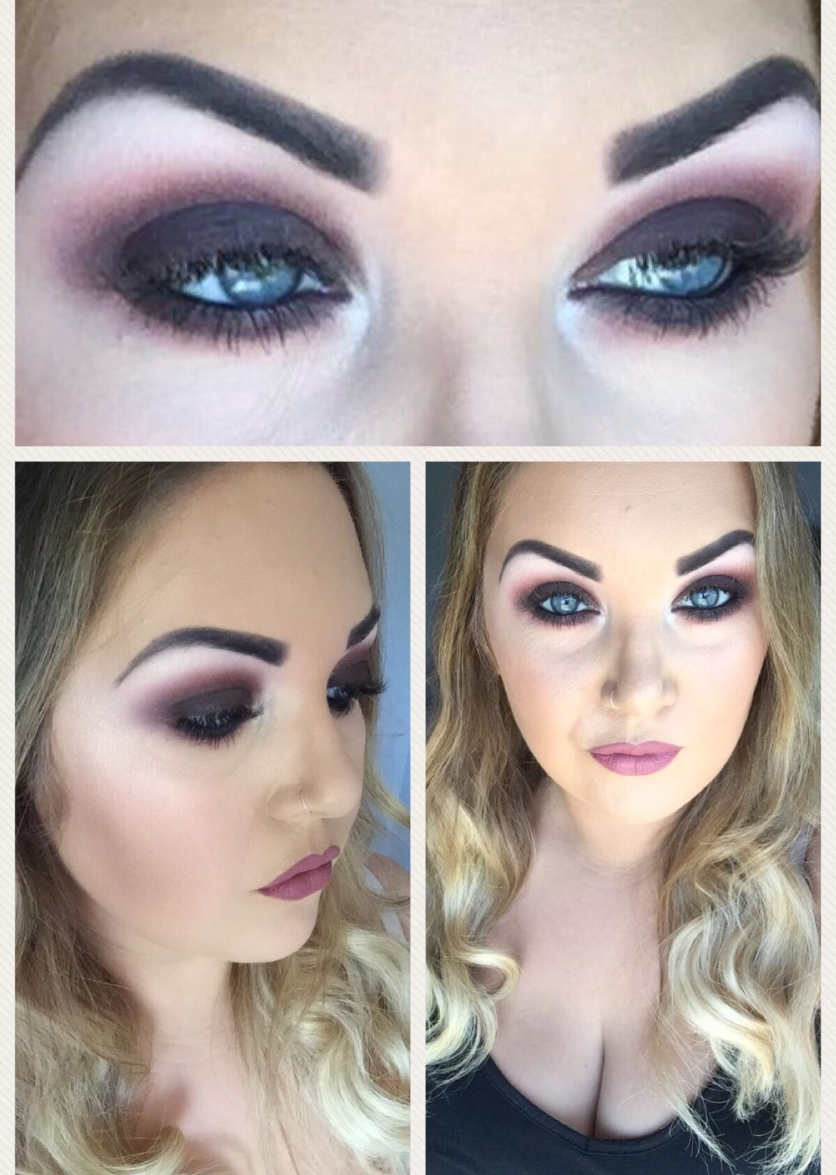 Purple/ Mauve blown out smokey eye. Wedding guest/ Special