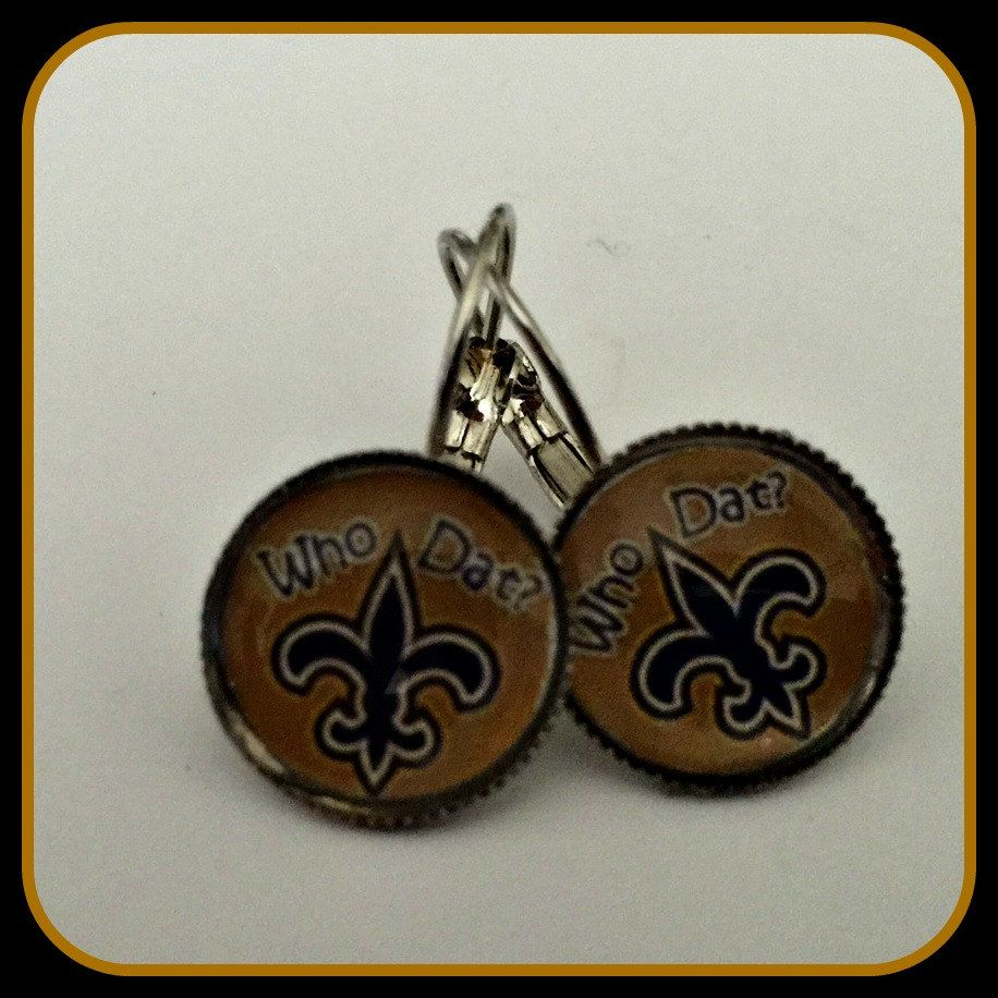 New Orleans Saints Earrings Unique Sports & Themed Jewelry NFL by SportsnBabyCouture on Etsy