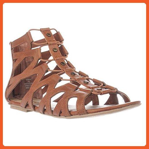 AR35 Romil Rear Zip Gladiator Sandals - Tan, 8.5 US - Sandals for women (*Amazon Partner-Link)