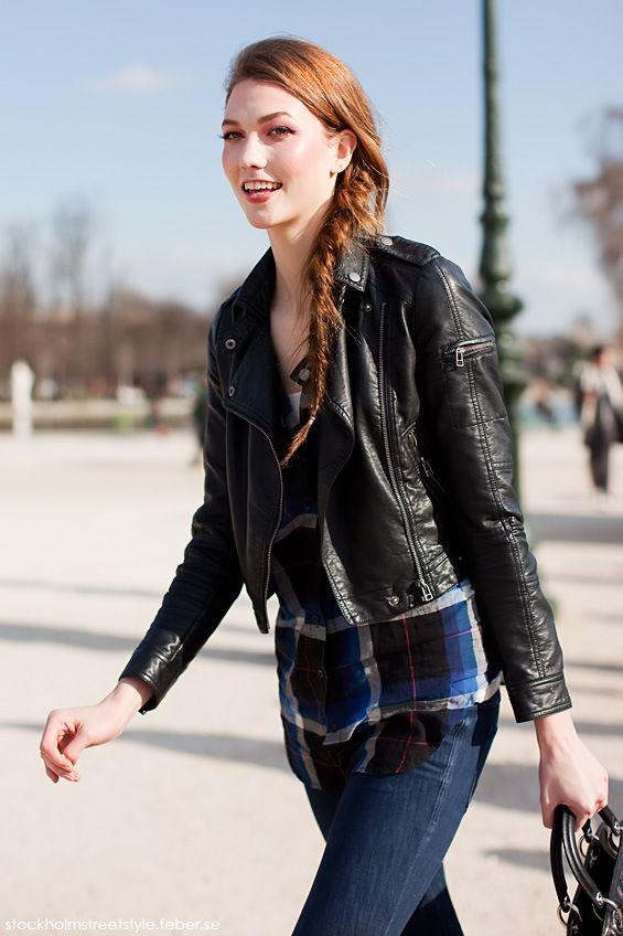 Karlie Kloss - really like the leather jacket