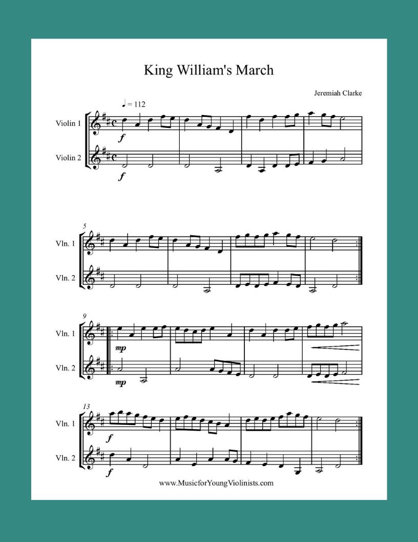 Free Violin Sheet Music Violin Sheet Music, Free PDFs