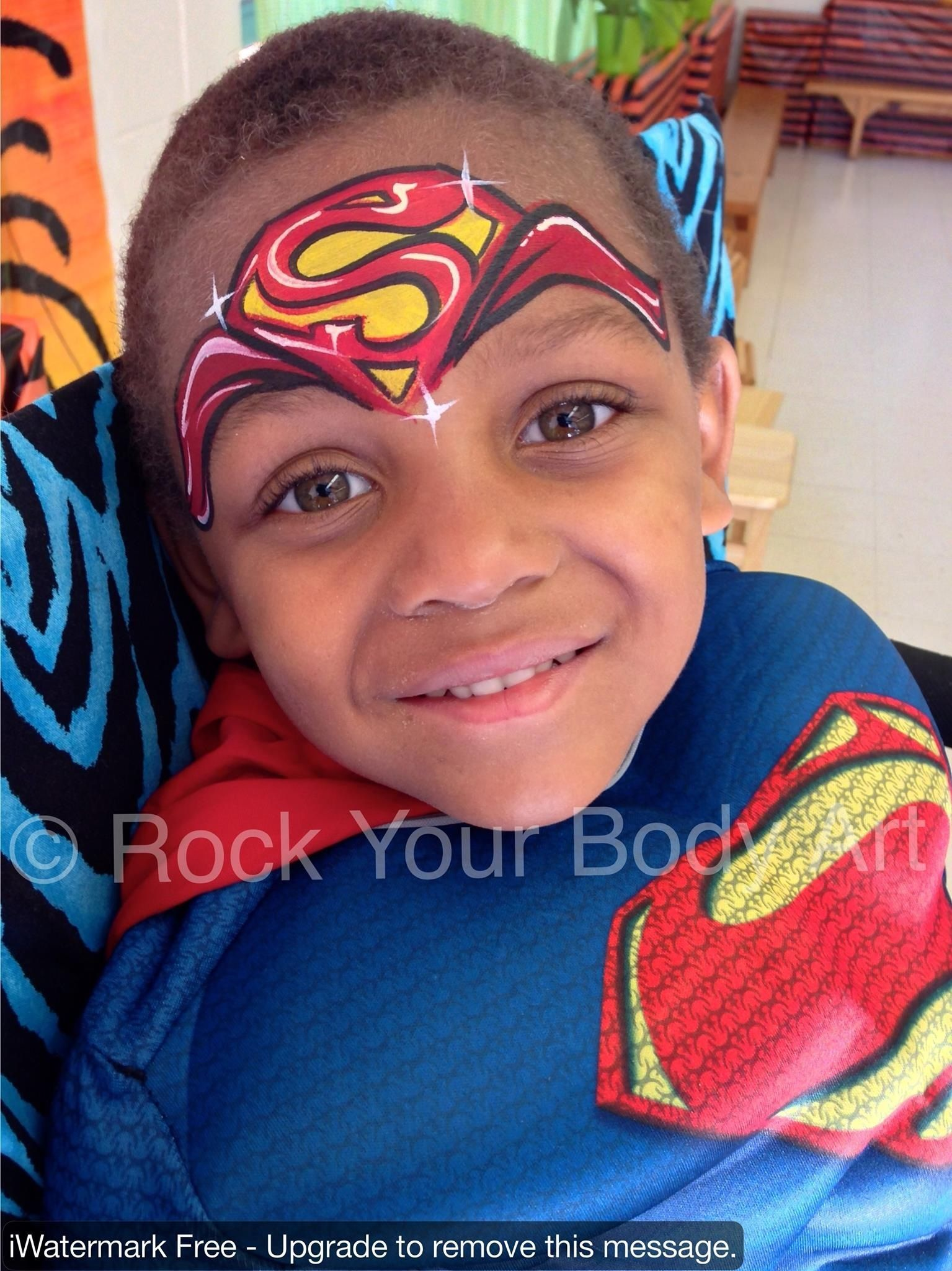 Pin By Marcy Santos On Superhero Superhero Face Painting Superman Face Painting Face Painting Designs