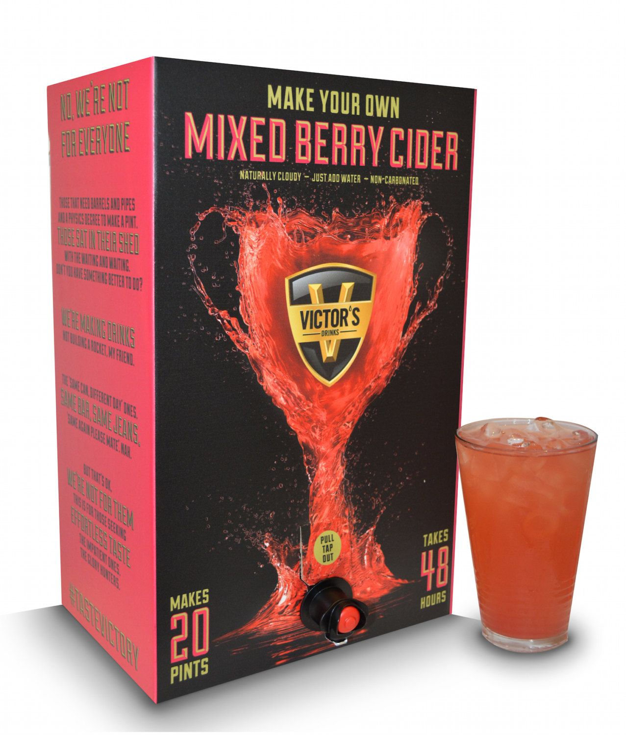 Victors Mixed Berry Cider Kit Homebrew Freepost In Uk Great Gift Idea Make In 48 Hrs Great For Parties Mixed Berries Cider Gifts Home Brewing