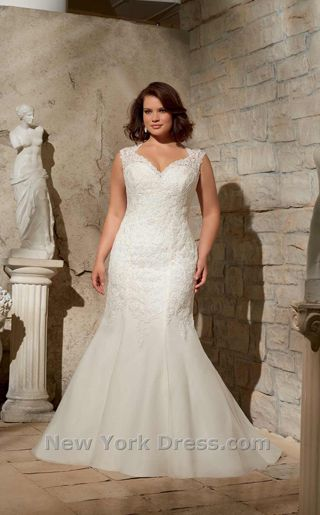 NewYorkDress Blog // The Curvy Fashionista Features Plus Size Wedding Dresses // Click through for more! // Dress: Mori Lee 3175