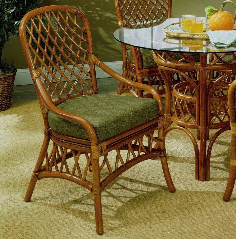 South Sea Rattan Antigua Indoor Dining Side Chair Side Chairs