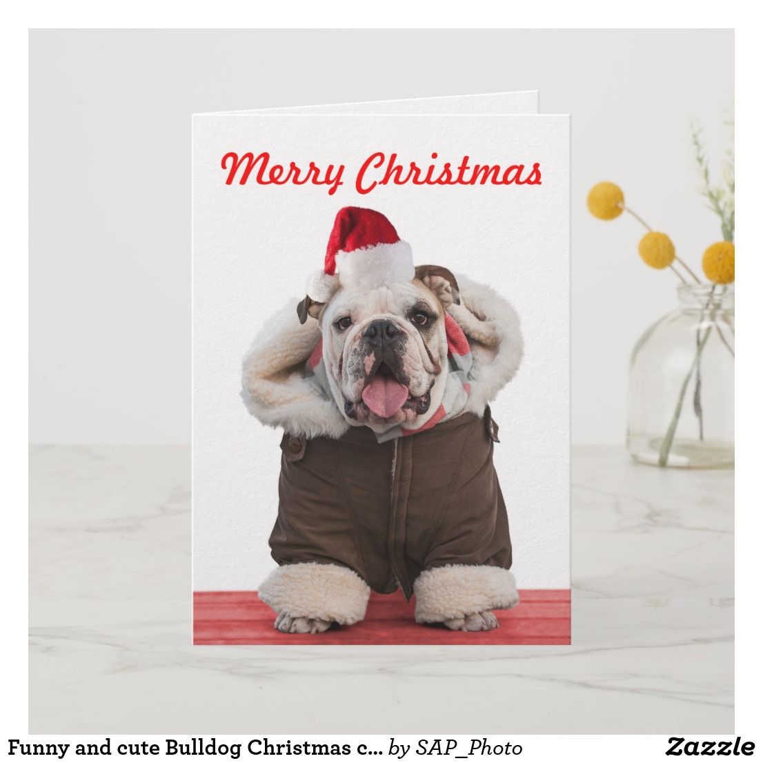 Funny and cute Bulldog Christmas cards | Funny Christmas Holiday ...