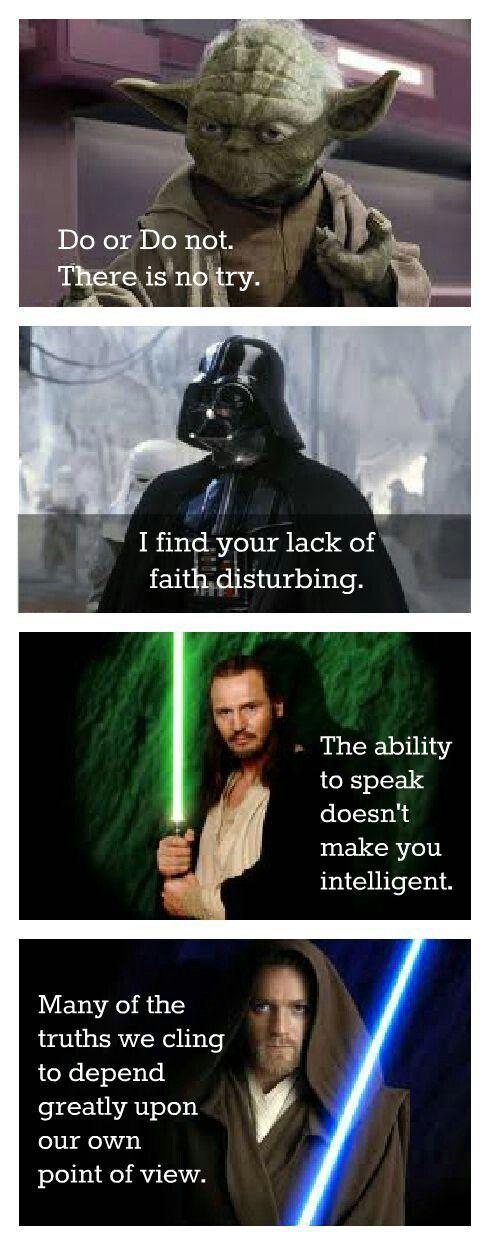 Star Wars Logic Star Wars Quotes Star Wars Memes Star Wars Poster