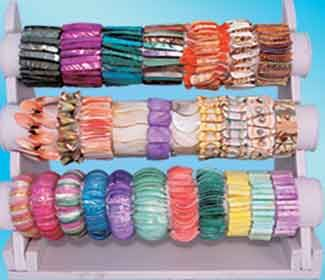 I'm going to start saving my bracelets on a paper towel holder, so I can see them all at once !
