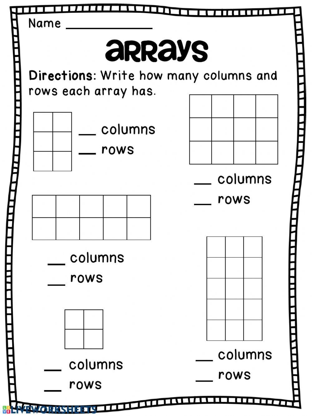 hight resolution of Repeated Addition Arrays Worksheets Arrays Worksheet   Teaching  multiplication