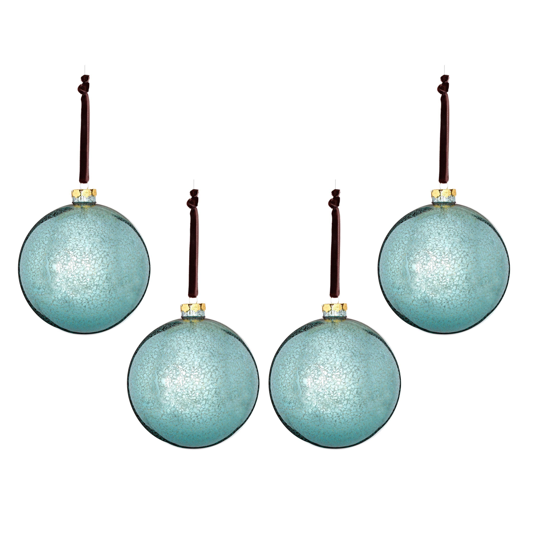 Gls Mercury Finish Ball Ornament 5