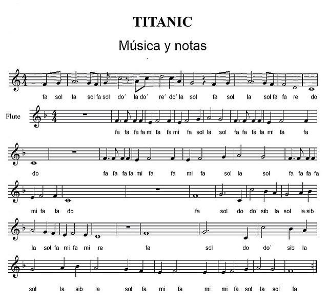 Titanic Partituras Piano Partituras Notas