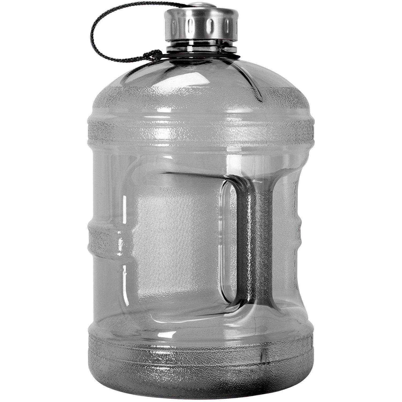 1 Gallon BPA FREE Reusable Plastic Drinking Water Bottle w
