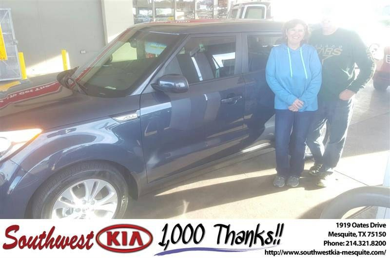 https://flic.kr/p/ALET6N | Congratulations Vickie on your #Kia #Soul from Quinton Wade through at Southwest Kia Mesquite! | deliverymaxx.com/DealerReviews.aspx?DealerCode=VNDX