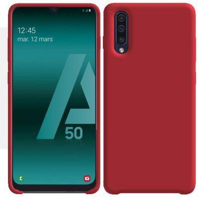 Ibroz Samsung A50 Liquid Silicone rouge - Coque   Samsung, Samsung ...