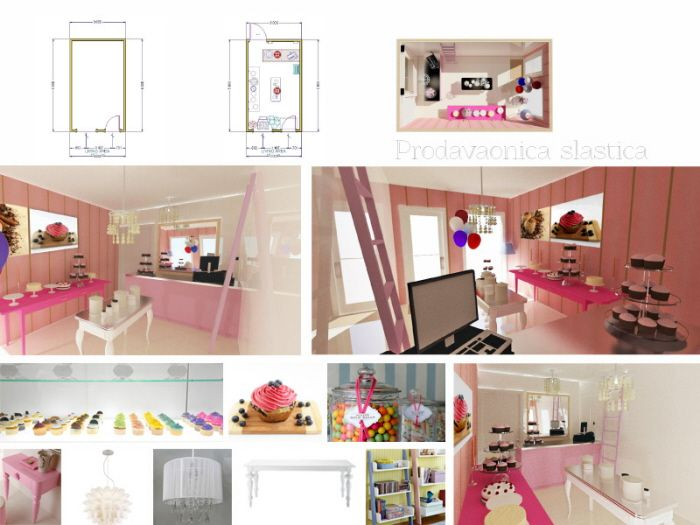 Interior design of cupcake and cake shop by valentina vicevic at ...