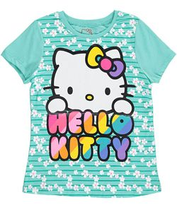 "cfe9411d29433 Hello Kitty Big Girls' ""Spring Rainbow"" T-Shirt (Sizes 7 – 16) $7.99 ..."