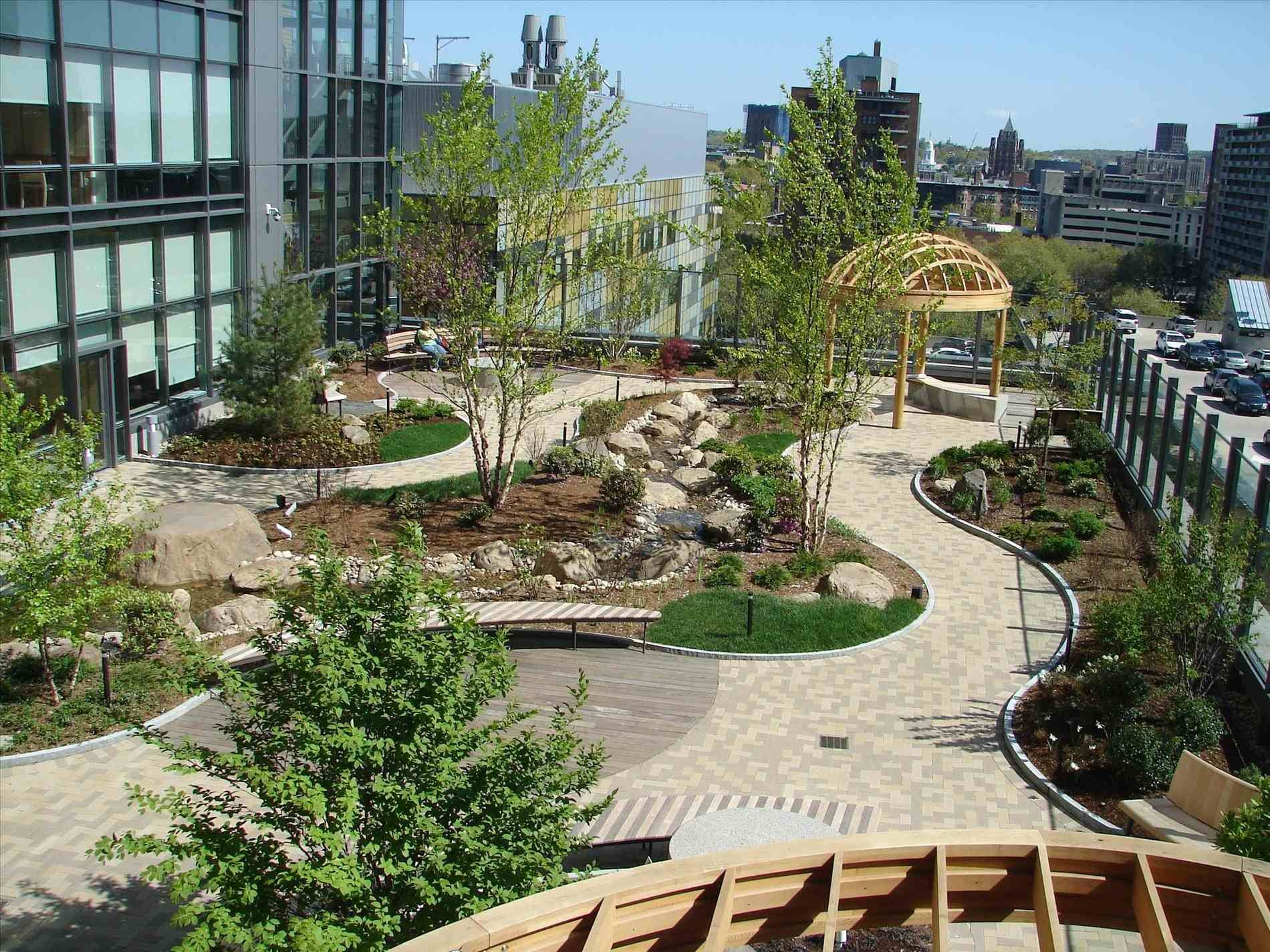 Modern Roofing Garden | Terrace garden design, Roof garden ...