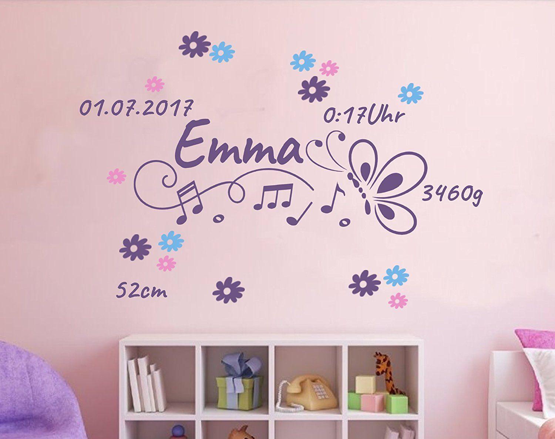 Blickfang Wandtattoo Kinderzimmer Mädchen Galerie Von Baby Geburt Mädchen Geburtsdaten Datum Name Wunschname
