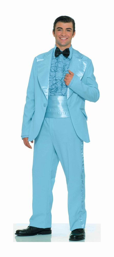 Prom King Tux Powder Blue Tux 70s Tux Costume 70s Prom Tux Polyester ...