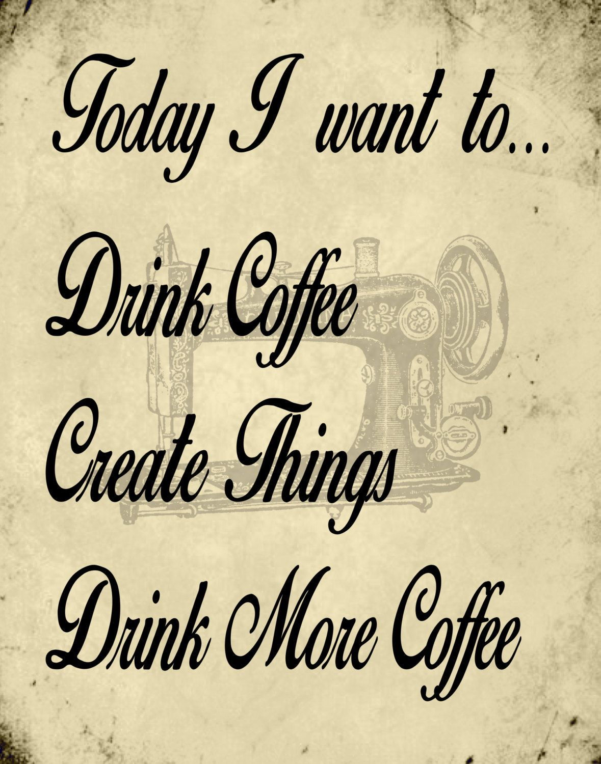 artistthingstosay: 11x14 printable art; wall art; coffee and create ...